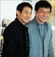 Jet Li & Jackie Chan, Woahhhh sooo cool :))))) Two of my Favorite Kung Fu actors, Miss their movies, wish they could keeping making awesome fighting movies but they're about to retire I guess :(