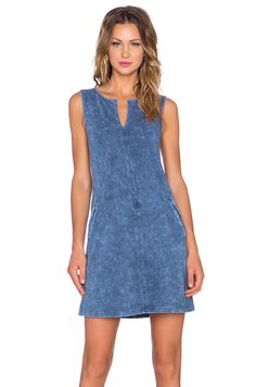 three dots Sleeveless Tunic Dress in Blue Jean | REVOLVE