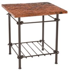 Awesome Copper and Iron pairing in this Stone County Ironworks Knot Side Table