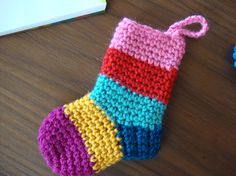 Christmas stocking ornament and many other crochet patterns