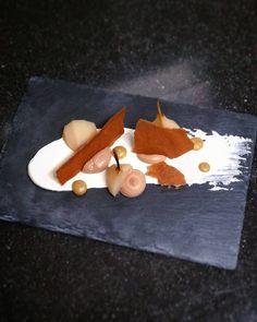 Poached pear | chocolate & hazelnut mousse | chocolate crisp | pear fudge | mascarpone crème |