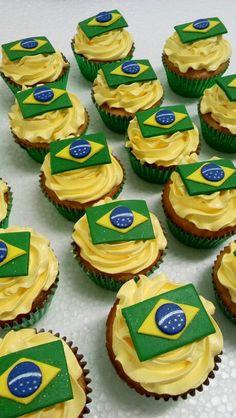 Cupcakes Bandera de Brazil