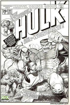 Hulk 181 cover reproduction from Art Adams