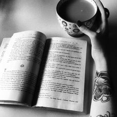 coffee and books :) two of my fav things <3