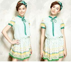 Womens Sweet Vintage Dress