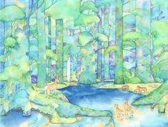幻想的な森のイラストアイデア
