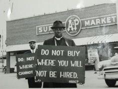 """yearningforunity: """"Do Not Buy Where You Will Not Be Hired"""" Floyd McKissick Papers (4930), Southern Historical Collection, Wilson Library, U..."""