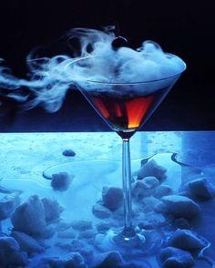 Cedar smoked Manhattan, a winter cocktail favorite.