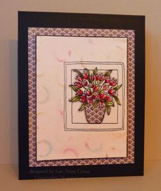 Bokeh Bouquet by Shadow's Mom - Cards and Paper Crafts at Splitcoaststampers Bokeh, Card Ideas, Stamps, Bouquet, Greeting Cards, Paper Crafts, Simple, Frame, Pink