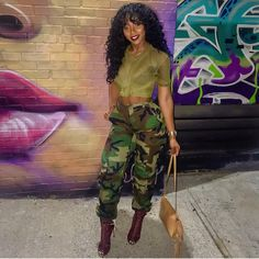 Cute and casual camo outfit Camo Fashion, Dope Fashion, Fashion Killa, Urban Fashion, Girl Fashion, Fashion Looks, Fashion Outfits, Womens Fashion, Camo Outfits