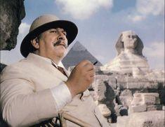 Peter Ustinov as Hercule Poirot in Death on the Nile Peter Ustinov, Hercule Poirot, Agatha Christie's Poirot, Bette Davis, Angela Lansbury, Maggie Smith, Seven Movie, I Movie, Movie Scene