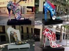 Para as modernets de plantão!  Exposta em Madrid a 'Shoe Street Art', são 25 sapatos gigantes espalhados pela cidade, para lembrar  o valor do sapato espanhol de uma maneira mais contemporânea...  A exposição vai até o dia 24 de junho, ainda dá tempo de dar uma passadinha por lá!