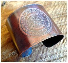 This two inch sold copper etched cuff bracelet was created as a sample at the request Cypress Pointe Fire Department.  Please contact me anytime to request your own custom jewelry.  No project is too large or too small.  :-)