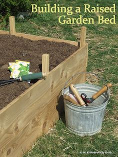 ... to do immeasurably more...: Build A Raised Garden Bed