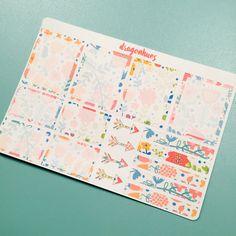 H2 Floral full and half box stickers for Erin Condren, Day Designer, Filofax personal planner