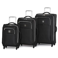 IT Luggage Megalite XWeave 3 Piece Set Black One Size ** You can get additional details at the image link.