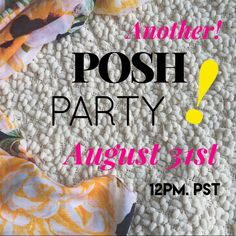 Posh Party! Hey loves! I'll be hosting ANOTHER Posh Party on August 31st. Theme: Best in Bags! Let me know what my host picks should be! 💗             SALE: Everything must go! Closet clean out! I will be adding new items over the next few weeks! 😘  Sorry -- NO trades 🚫 Other