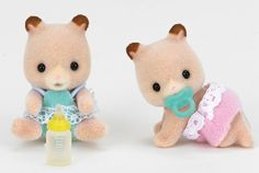 "The Calico Critters Fluffy Hamster Twins Dolls Set Features:High quality design and materials for lasting durabilityEach Critter has soft textured flocked ""fur"" and . Beanie Babies, Kids Store, Toy Store, Sylvanian Families, All Toys, Kids Playing, Baby Shop, Twins, Teddy Bear"
