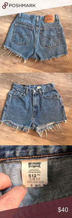 Vintage frayed Levi's shorts!  Size 8 runs small! Very nice vintage cutoff Levi's shorts.  These should fit as high rise shorts.  Be sure to see measurements before purchasing because vintage sizes run extremely small.  These probably fit more like a 4-6 in comparison to today's sizes. Levi's Shorts Jean Shorts