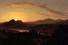 Thomas Worthington Whittredge (1820-1910) - Sunrise, View of Drachenfels from Rolandseck