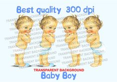 Cute Vintage Baby boy Transparent PNG Digital quality Image