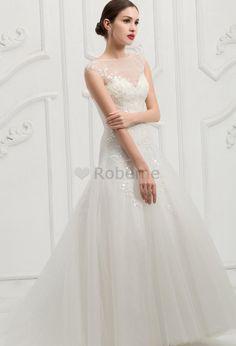 Robe de mariée elégant en satin de traîne mi-longue avec manche courte avec…