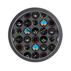 Flight Instruments Wall Clock by Admin Store - CafePress Wall Clock Design, Clocks, Store, Gifts, Tools, Board, Tent, Presents, Shop Local