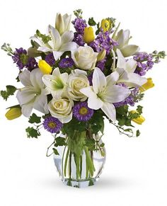 Ooh, Pretty Bouquet for MOTHER'S DAY Spring Waltz Flowers, Spring Waltz Flower Bouquet - Teleflora.com