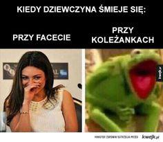 Hahahaha no tak😂😂 Wtf Funny, Funny Cute, Polish Memes, Funny Mems, Happy Photos, Dead Memes, True Memes, Kermit, Life Humor
