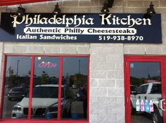 Philadelphia Kitchen's Philly Cheesesteaks in Orangeville, Ontario Philly Restaurants, Places To Eat, Ontario, Philadelphia, Trip Advisor, Philly Cheesesteaks, Told You So, Car Rental, Kitchen