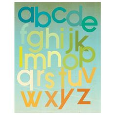What a cute display of the ABC's.