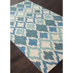 Beachcrest Home McLellen Hand-Woven Blue/Ivory Indoor/Outdoor Area Rug & Reviews | Wayfair