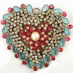 Vintage Chanel Heart Pendant.
