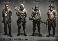 Here's some characters, definitely a weak area of mine at the moment. More or less a combination of WWI and mafia.