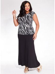 2dc9c89aee9b1 Delray Maxi Plus Size Skirt in Black - Plus Size Bottoms by IGIGI Latest  Summer Fashion