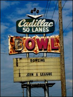 Waterloo Iowa Cadillac Lanes. Awesome place to bowl. Very retro