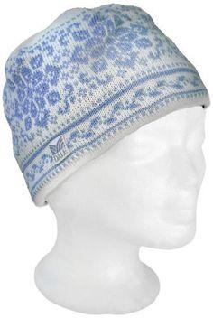 Dale of Norway Women's Harmony/Peace Hat, Off White/Ice Blue, Medium