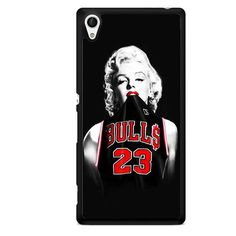 Marilyn Monroe Chicago Bulls Jersey Michael Jordan TATUM-6863 Sony Phonecase Cover For Xperia Z1, Xperia Z2, Xperia Z3, Xperia Z4, Xperia Z5