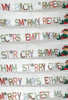 Is your Elf on the Shelf clever? Does he like puzzles? Can he rearrange your Christmas bunting decorations?