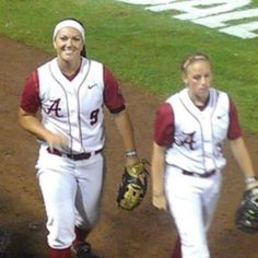 Alabama 3rd baseman, #9 Courtney Conley flashing a big smile at her fans on game night 3 of the College World Series! They were only hours away from taking the title of National Champions. June 2012