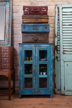 Colorful furniture old-fashioned look