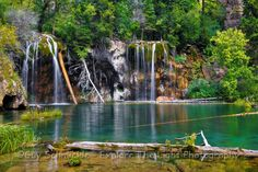 #Hanging Lake, Glenwood Springs, #Colorado.  This gorgeous, ice cold lake and waterfall awaits you at the top of a great little #hike. worth the effort.