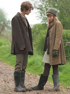 I love the knitwear and the wellies in this film.