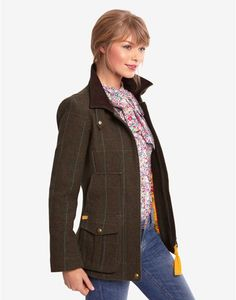 Joules FIELDCOAT Womens Tweed Jacket, Balmora. If this country sports coat is in your sights, you're set to capture true country style. Completely timeless, made to last season, after season, after season. A true Joules classic.