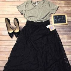 LuLaRoe Outfit, Lucy skirt & classic tee NWT, shoes not included LuLaRoe Skirts Skirt Sets