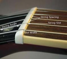 By Erick Coleman A guitar's nut serves several important functions. Located at the end of the fingerboard (where it meets the headstock), the nut determines the spacing of the strings and the actio… Cigar Box Guitar, Music Guitar, Guitar Tips, Guitar Lessons, Guitar Garage, Acoustic Guitar Photography, Guitar Building, Guitar Pedals, Music Stuff