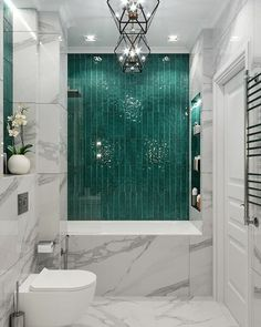 ✔ 65 bathroom design ideas with modern bathup 31 > Fieltro.Net - Bathroom Design - Home Design Dream Bathrooms, Beautiful Bathrooms, Small Bathroom, Bathroom Ideas, Bathroom Green, Bathroom Marble, Marble Tiles, Wall Tiles, Marble Wall