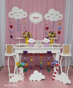 Thaisa Socher's media content and analytics 1st Birthday Party For Girls, Rainbow Birthday Party, Birthday Party Themes, Baptism Banner, Baby Boy Baptism, Simple Birthday Decorations, Angry Birds Cake, Teen Room Decor, Colorful Cakes
