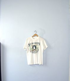 Vintage 70's graphic tee St. Maarten Paradise by manorborn on Etsy