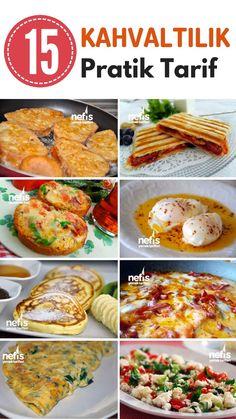 Sabah kahvaltı yapmak için fazla vaktiniz yok mu? Çat kapı misafir mi geldi? Yummy Recipes, Lunch Recipes, Breakfast Recipes, Cooking Recipes, Yummy Food, East Dessert Recipes, Turkish Recipes, Ethnic Recipes, Turkish Breakfast